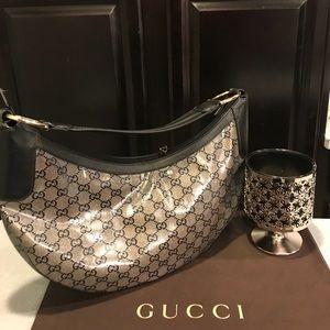 Gucci Crystal GG Guccissima Hobo Purse